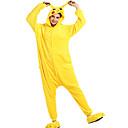 preiswerte Kigurumi Pyjamas-Erwachsene Kigurumi-Pyjamas Pika Pika Pyjamas-Einteiler Flanell Vlies Gelb Cosplay Für Herren und Damen Tiernachtwäsche Karikatur Fest / Feiertage Kostüme