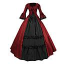 ieftine Accesorii Lolita-Βικτωριανής Εποχής Medieval Costume Pentru femei Rochii Costume petrecere Mascaradă Rosu Vintage Cosplay Dantelă Terilenă Bumbac Manșon Lung Lung Haine Bal