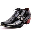cheap Men's Oxfords-Men's Formal Shoes Patent Leather Fall / Winter Oxfords Black / Blue / Party & Evening