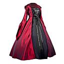 abordables Accesorios Lolita-Gosurori / Gótico / Medieval Disfraz Mujer Vestidos / Ropa de Fiesta / Baile de Máscaras Rojo Cosecha Cosplay Satén Llano Manga Larga Balón Hasta el Suelo