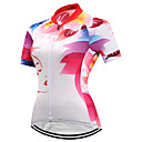 cheap Cycling Jersey & Shorts / Pants Sets-FUALRNY® Women's Short Sleeve Cycling Jersey - Red and White Bike Jersey Quick Dry Reflective Strips Sports Coolmax® Lycra Clothing Apparel / High Elasticity