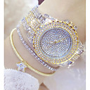 cheap Bracelet Watches-Women's Pave Watch Unique Creative Watch Fashion Watch Japanese Quartz Casual Watch Stainless Steel Band Charm Silver Gold