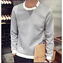 cheap Pendants-Men's Chic & Modern Long Sleeve Sweatshirt - Color Block Round Neck