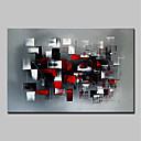 olcso Bekeretezett műalkotások-Hang festett olajfestmény Kézzel festett - Absztrakt Absztrakt / Modern Vászon / Nyújtott vászon