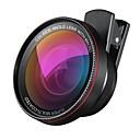abordables Lentes de Cámara para Smartphone-2 en 1 kit profesional de lente de cámara hd 0.6x lente gran angular 10x lente macro universal clip en lente de teléfono celular para