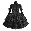 cheap Lolita Dresses-Gothic Lolita Dress Punk Women's Dress Cosplay Black Puff / Balloon Sleeve Long Sleeve Medium Length