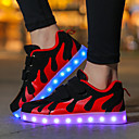 cheap Girls' Shoes-Girls' Shoes Net / Fabric Fall Comfort / Light Up Shoes Sneakers Magic Tape / LED for Pink / White / Black / White / Black / Red