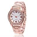 preiswerte Modische Uhren-Herrn Damen Armbanduhr Quartz Silber / Gold / Rotgold Armbanduhren für den Alltag Analog Charme Freizeit Simulierte Diamant-Uhr - Gold Silber Rotgold
