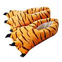ieftine Pijamale Kigurumi-Papuci Kigurumi Tigru Pijama Întreagă Costume Poliester Bumbac Portocaliu Cosplay Pentru Sleepwear Pentru Animale Desen animat Halloween