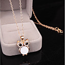cheap Necklaces-Women's Pendant Necklace / Y Necklace - Owl, Flower White, Black Necklace For Party / Evening, Daily, Evening Party