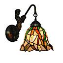 olcso Fali rögzítők-átmérő 18 cm retro ország sellő tiffany fali lámpa üveg árnyékoló nappali hálószoba lámpatest
