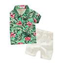 cheap Boys' Clothing Sets-Toddler Boys' Print Short Sleeve Cotton Clothing Set