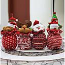 olcso Karácsonyi dekoráció-1pc karácsonyi díszek gyapjú kötött babák santa claus karácsonyi hóember véletlenszerű színű