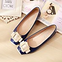 cheap Women's Flats-Women's Shoes Pigskin Spring / Fall Comfort Flats Flat Heel Square Toe Blue / Pink / Almond