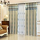 cheap Curtains Drapes-Curtains Drapes Bedroom Stripe Yarn Dyed