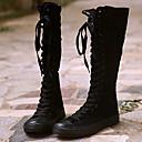 ieftine Flip-Flops de Damă-Pentru femei Pantofi Pânză Toamnă / Iarnă Cizme la Modă Cizme Cizme înalte Alb / Negru / Party & Seară