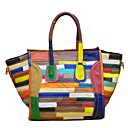 cheap Totes-Women's Bags Cowhide Tote Tiered Rainbow