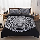 cheap Geometric Duvet Covers-Duvet Cover Sets Geometric 3 Piece Polyester Reactive Print Polyester 3pcs (1 Duvet Cover, 2 Shams)