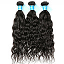 cheap Natural Color Hair Weaves-3 Bundles Indian Hair Water Wave Unprocessed Human Hair Natural Color Hair Weaves / Hair Bulk 8-30 inch Human Hair Weaves Human Hair Extensions