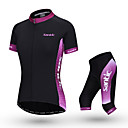 cheap IP Cameras-SANTIC Women's Short Sleeve Cycling Jersey with Shorts - Pink Bike Clothing Suit, Breathable Polyester Solid Color / Stretchy / Advanced / Italy Imported Ink