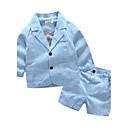 cheap Boys' Clothing Sets-Boys' Stripe Clothing Set, Others Fall Long Sleeves Stripes Blue Gray