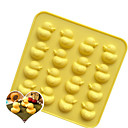 cheap Bakeware-16 Holes Cute Duck Silicone Cake Mold DIY Ice Cream Maker Mould Tray