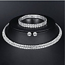cheap Jewelry Sets-Women's Jewelry Set - Basic, Elegant Include Silver For Wedding Daily