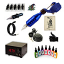 cheap Tattoo Transfers & Supplies-Tattoo Machine Starter Kit - 1 pcs Tattoo Machines with 7 x 15 ml tattoo inks, Professional Case Not Included 15 W 1 rotary machine liner