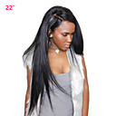 cheap Human Hair Wigs-Human Hair 360 Frontal Wig Peruvian Hair Straight Wig with Baby Hair 180% Density Women's Medium Length Human Hair Lace Wig CARA