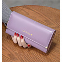 cheap Facial Care Devices-Women's Bags Cowhide Wallet Buttons Fuchsia / Light Purple / Gray Green