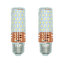 hesapli LED Ampuller-BRELONG® 2pcs 16W 1300lm E27 LED Mısır Işıklar T 84 LED Boncuklar SMD 2835 Sıcak Beyaz Beyaz Çift Işık Kaynağı Rengi 220-240V