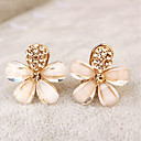 cheap Earrings-Women's Clip on Earring Flower Ladies Elegant Rhinestone Earrings Jewelry Gold For Party Daily