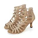 cheap Women's Sandals-Women's Salsa Shoes Glitter / Honeycomb Heel Splicing / Paillette High Heel Customizable Dance Shoes Gold / Black / Indoor