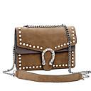 cheap Shoulder Bags-Women's Bags PU Crossbody Bag Zipper Black / Gray / Brown