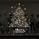 זול מדבקות, תוויות ותגיות-חלון הסרט & מדבקות תַפאוּרָה חג מולד פרחוני PVC מדבקה לחלון / חדר מגורים