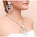 abordables Tocados de Fiesta-Mujer Conjunto de joyas - Corazón Incluir Pendientes colgantes / Collar Dorado / Plata Para Boda / Fiesta