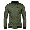 cheap Camp Kitchen-Men's Street chic Jacket-Color Block Stand