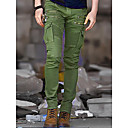 abordables Sets de Maillots Ciclistas y Shorts / Pantalones-Hombre Militar Punk & Gótico Algodón Delgado Chinos Pantalones - Un Color