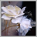 tanie Obrazy: motyw roślinny/botaniczny-Hang-Malowane obraz olejny Ręcznie malowane - Kwiatowy / Roślinny Artystyczny / Rustykalny / Nowoczesny / współczesny Brezentowy / Rozciągnięte płótno