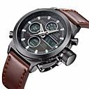 preiswerte Digitaluhren-BIDEN Herrn Armbanduhr Japanisch Kalender / Armbanduhren für den Alltag Leder Band Freizeit / Modisch / Elegant Braun