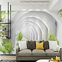baratos Murais de Parede-Geométrica Art Deco 3D Decoração para casa Moderna Rústico Revestimento de paredes, Tela de pintura Material adesivo necessário Mural,