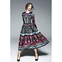 זול שעונים חכמים-מקסי אחיד - שמלה סווינג סגנון סיני בגדי ריקוד נשים