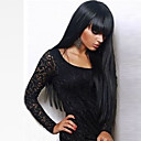 cheap Synthetic Capless Wigs-Synthetic Wig Straight With Bangs Synthetic Hair With Bangs Black Wig Women's Long Capless Natural Black