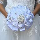 """זול פרחי חתונה-פרחי חתונה זרים / פרחים מלאכותיים חתונה תחרה / משי 9.84""""(לערך.25ס""""מ)"""