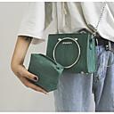 baratos Conjunto de Bolsas-Mulheres Bolsas PU Conjuntos de saco 2 Pcs Purse Set Ziper Rosa / Verde Claro / Khaki