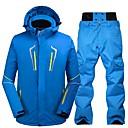 cheap Hiking Trousers & Shorts-Men's Ski Jacket with Pants Waterproof Windproof Warm Ski / Snowboard Eco-friendly Polyester Winter Jacket Bib Pants Ski Wear