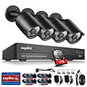 cheap Indoor IP Network Cameras-SANNCE® 8CH CCTV Security System Onvif 1080P AHD/TVI/CVI/CVBS/IP 5-in-1 DVR with 4*2.0MP Cameras with 1TB HDD