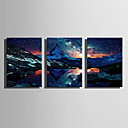 cheap Prints-LED Canvas Art Landscape Classic, Three Panels Canvas Print Wall Decor Home Decoration