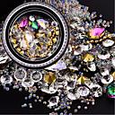 abordables Purpurina para Manicura-1 pcs Uñas herramientas de bricolaje Cristal / Multitonos / Diseñado Especial arte de uñas Manicura pedicura Cumpleaños / Diario Elegante / Moda / Encantador