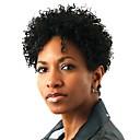 tanie Torby na laptopy-Syntetyczne koronkowe peruki Afro Kinky Włosy syntetyczne Peruka afroamerykańska Czarny Peruka Damskie Krótki Koronkowy przód